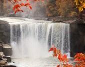 Waterfall in Fall 8x10 - Fine Art Photography Print