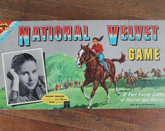 Rare Vintage Board Game - National Velvet Game COMPLETE (Metro Goldwyn Mayer Inc., Transogram Company Inc. 1961)