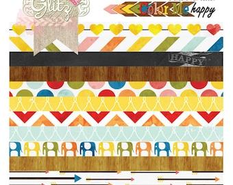 50% Off - Glitz Design Color Me Happy 8x8 Paper Pad -- MSRP 10.00