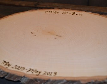 Anniversary Guest Book Tree Slice