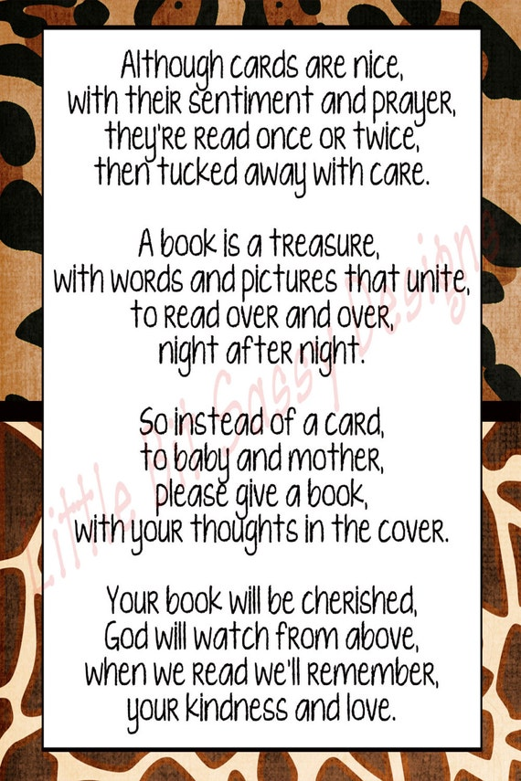 Bridal Shower Poems For Gift Cards
