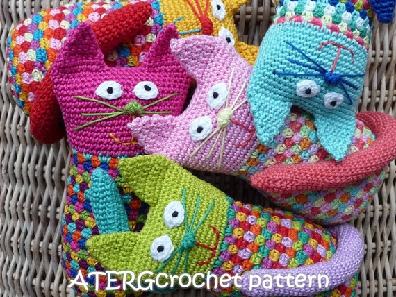 Crochet pattern cat by ATERGcrochet