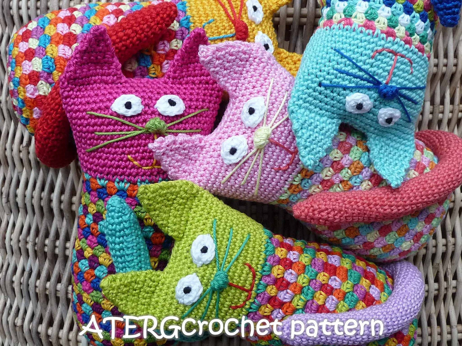 Crochet Patterns Etsy : Crochet pattern cat by ATERGcrochet by ATERGcrochet on Etsy