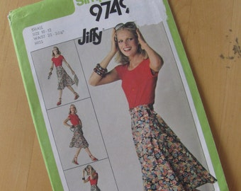 Uncut Simplicity 9749 Misses Front Wrap Skirt - Size Small