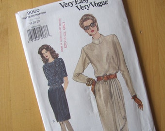 Uncut Vogue Sewing Pattern 9060 - Very Easy Very Vogue  - Size 18-22