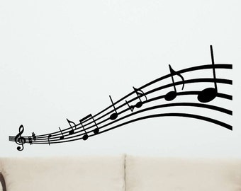 Musical Notes Wall Decal style 2 Wall Decor Music Notes Decorations