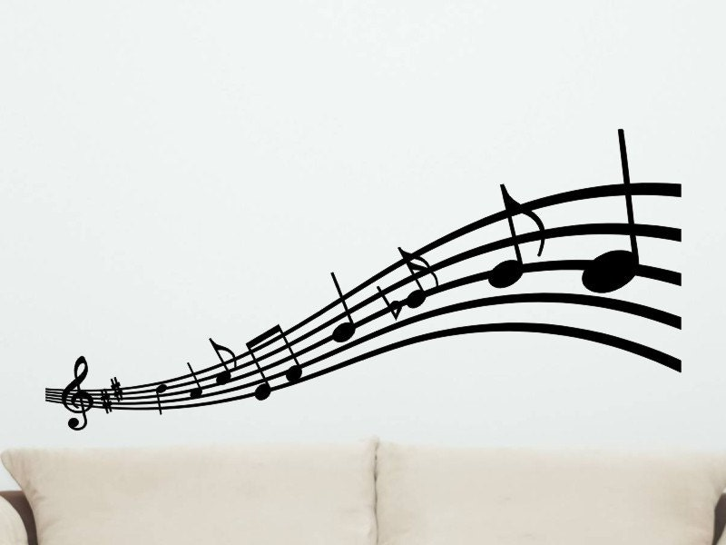 Musical Notes Wall Decal style 2 Wall Decor Music Notes