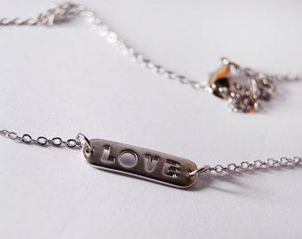 Love Pendant Necklace Bracelet Letter Plate Jewelry