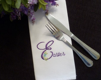 Set of 4 EASTER Cotton Cloth Dinner Napkins