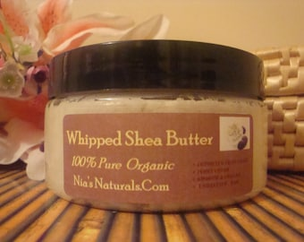 100% Unrefined RAW Hand Whipped African White/Ivory Shea Butter  FRESH 8 oz Jar