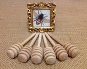 On Sale Today 12 Qty 4 inch wood mini honey dippers