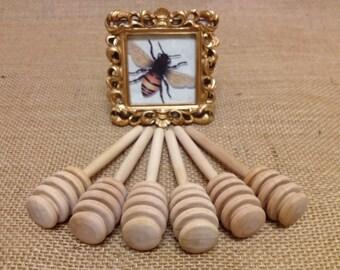30 qty wood mini honey dippers