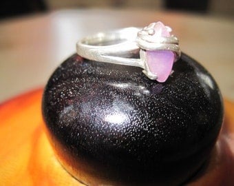Amethyst and sterling silver ring size 7