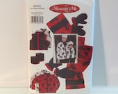 Polar Caps Hat scarf mittens Mommy and Me Mother Child Sewing Pattern FF uncut  Vogue 9705 All Sizes Free USA Ship