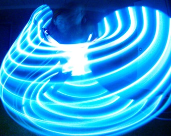 Free Shipping - Solid Color LED Hula Hoop - Ice Blue