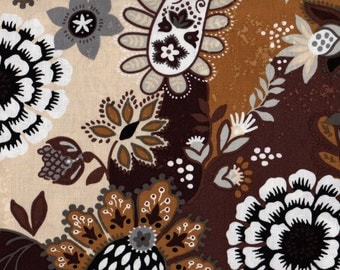 Floral Fabric, Caravan by Blank Quilting, Floral Paisley Fabric, Floral Fabric, Brown Fabric, 01248
