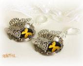 Steampunk earrings. Butterfly earrings. Unique earrings. Vintage details. Reuse. Filigree. Butterfly. Insect.