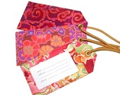 Luggage Tags, bright colors, custom colors, wedding or family reunion favor