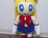 Crocheted Sailor Moon doll featured image