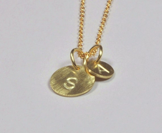 Solid 14K Gold Personalized Letter Pendants