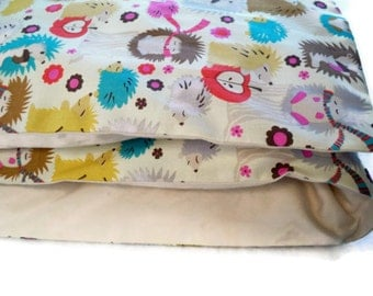 Toddler Duvet Cover - Hedgehog Bedding, Choose Your Size And Color - Designer Fabric - Made to Order