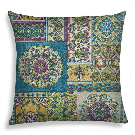 15 Inch Throw Pillow Covers : Boho Pillow Covers 18 x 18 inch Throw Pillow Cover Indoor