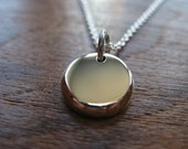 Solid Argentium Silver Handmade Charm