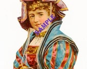 Digital Download-Medieval Lady clipart