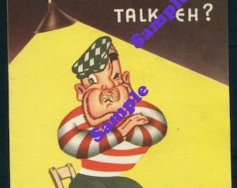 Vintage Birthday Card-So You Won't Talk-Thug and Police