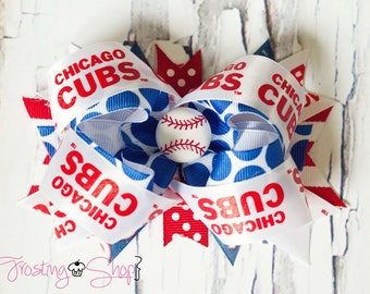 Chicago Cubs Bow- Baseball