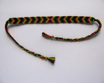 Rasta Colors Friendship Bracelet