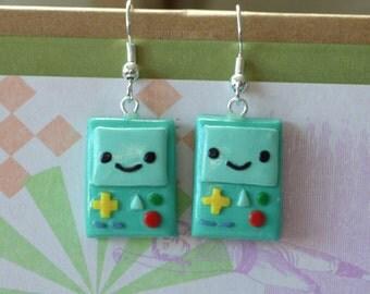Adventure Time BMO earrings