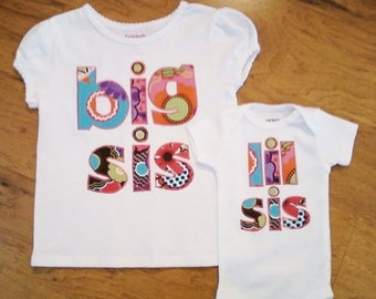 Set of 2 Big Sister/ Little Sister shirt set