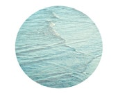 Aqua Beach Wave Photo, square print, blue aqua water, lake wave image, landscape nature photograph, geometric abstract
