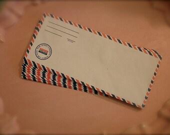 20  Vintage reproduction large  air mail envelopes, vintage par avion envelopes