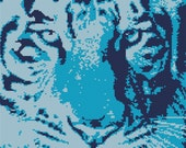 Cross Stitch Kit - Tiger - Ice - Tiger Elements