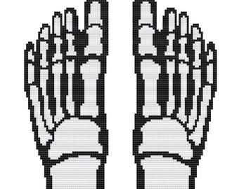 Contemporary Cross Stitch Kit 'Feet' Human Body Needelecraft CrossSticth Kit