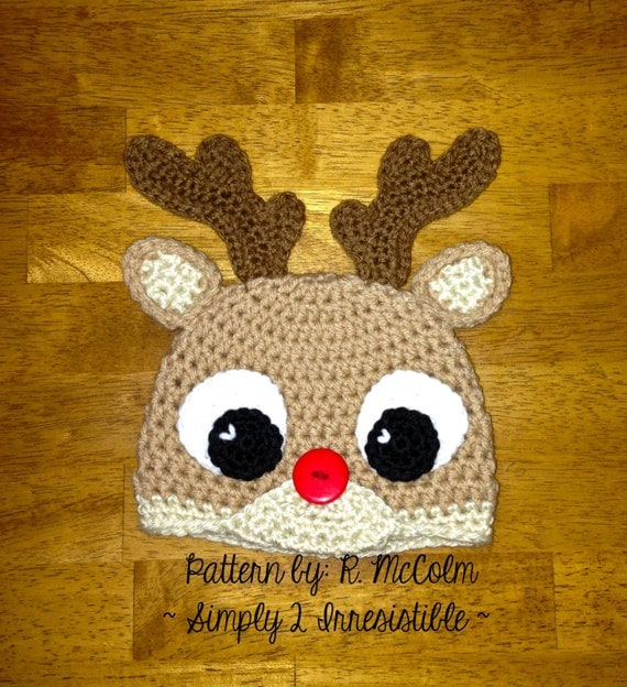 Free Reindeer Hat Crochet Pattern For Dogs : Rudolph Reindeer Hat Crochet Pattern 57 US and UK Terms