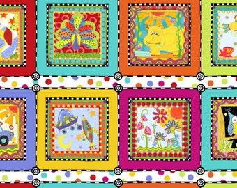SALE - In The Beginning Fabrics - Extraordinary World Collection - Kid's Playful Panel Fabric-  Multi