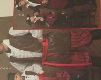 McCalls 5446 KIDS  Pirate Costumes Pattern Sizes 3-8