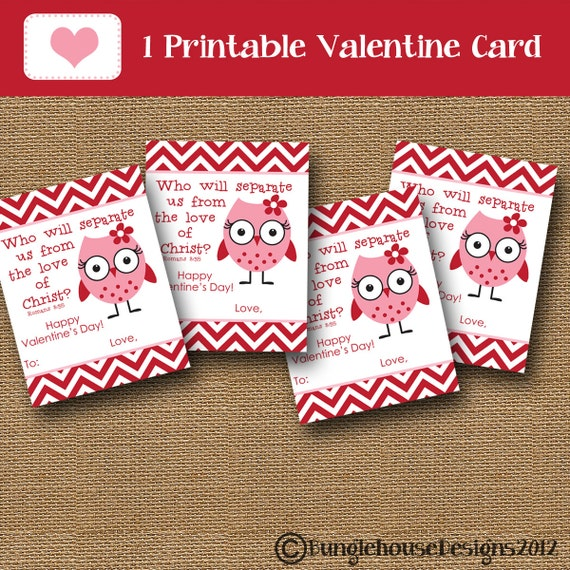 girl valentine card owl valentine diy printable inspirational christian scripture bible verse valentine for kids instant download