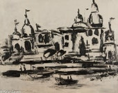 Varanasi- Indian Art-abstract india-black and white-ganges art