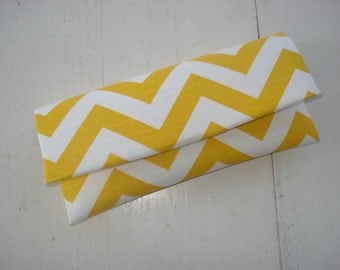 Yellow Chevron Clutch- Chevron, Bridesmaid Clutch, Yellow Clutch