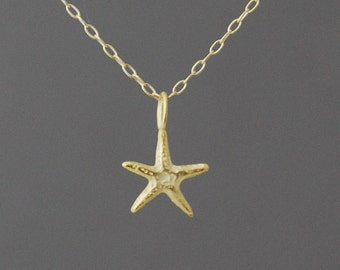 Gold Starfish Necklace also in silver