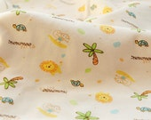Half Meter of Kawaii  Baby Cotton Knit Fabric - Lion and Tree  (18620)