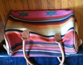 RESERVED for NICOLE Colorful Southwestern Print Duffle Bag / Beach Bag / Tote NWT