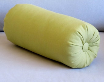 granny smith green cotton duck bolster pillow 16x 6