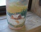 Handpainted German Mineral Water Bottle