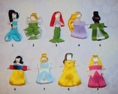 Set of 6 Disney Pricess Inspired Hair Clips