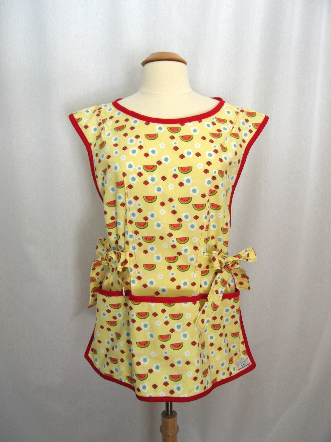 Yellow Cobbler Apron Smock Apron Over The Head Apron With